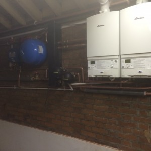 keston boiler in cellar removed heat store in basement accumulator